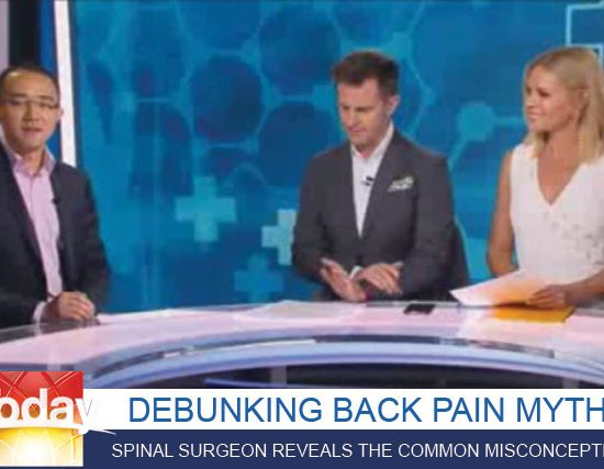 Debunking Back Pain Myths with spinal surgeon dr michael wong